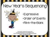 New Year's Sequencing: Speech Therapy and Literacy Activity