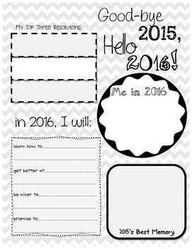 New Year's Sheet with Background