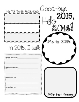New Year's Sheet with no background