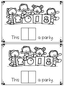 New Years Sight Word Emergent Reader