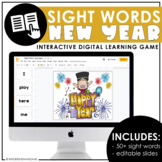 New Years Sight Word Flash