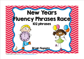 New Years Sight Word Fluency Phrases Race