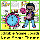 New Year's Activities: 2019 Sight Words Game Boards-Last Half of Dolch +10 Nouns