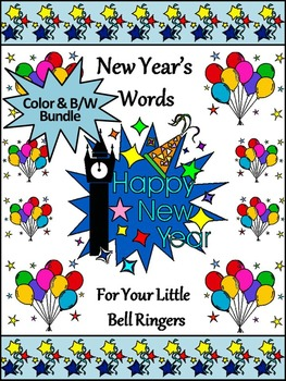 New Year's Activities: New Year's Spelling & Words Bundle Packet
