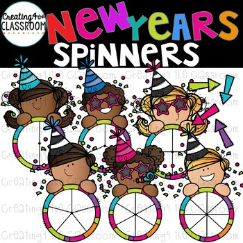 New Years Spinners Clipart  {New Years Clip art}