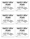 New Years Student Gift Coupon
