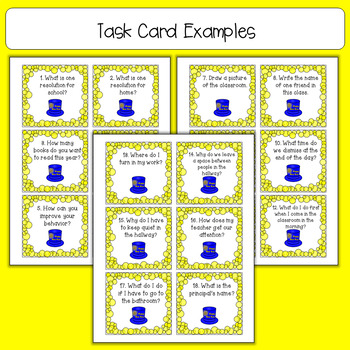 New Years Task Cards