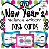 New Years Task Cards: Science Edition