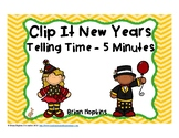 New Years Telling Time to 5 Minutes Clip It