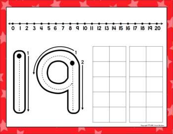 New Year's Ten Frame Bingo ~ Numbers 0 - 20