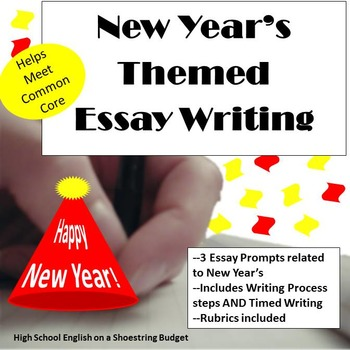 New Year's Themed Essay Writing, w Rubrics & Printables