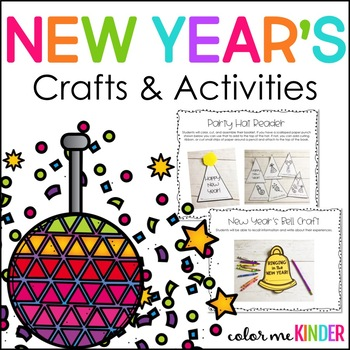 New Year's Themed Language Arts & Math Centers and Printables