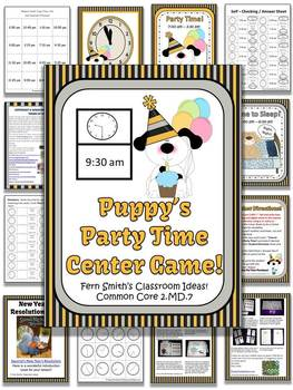 New Years - Puppy's Rocking New Years Party Time Center Game