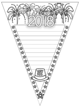 New Years Themed Writing Banners [[MLK Jr. Day Included!]]