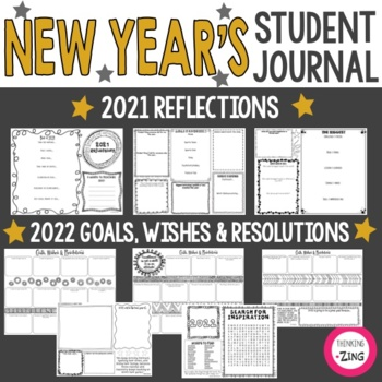 New Year's Student Writing Journal