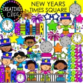 New Years Time Square {New Years Clipart}