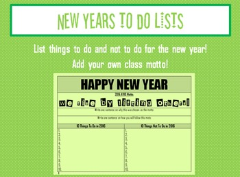 New Years To Do Lists