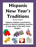 New Year's Traditions in Spanish Speaking Countries PowerPoint & Signs