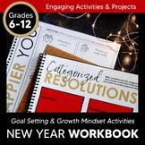 New Years WORKBOOK 2021: Goal Setting & Growth Mindset Activities 6-12 + Digital