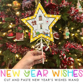 New Years Wishes Wand Craft {Freebie}