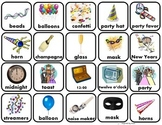 New Year's Word Matching/Memory Game/ Flashcards for Autism