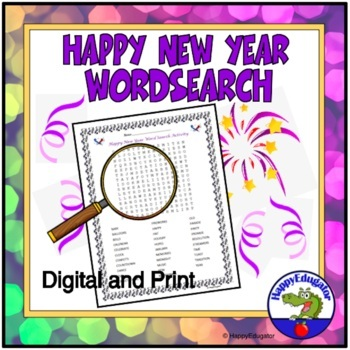 New Years Word Search