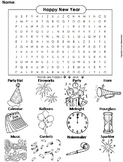 The New Year 2019 Activity: Color-in Word Search
