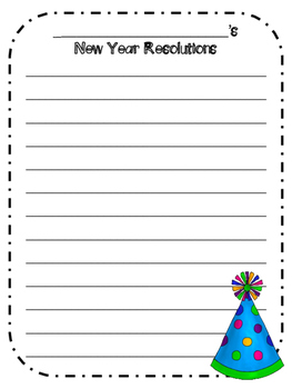 New Year's Word Work/Writing Freebie