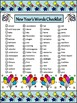 New Year's Activities: New Year's Words Flash-card & Word Wall Activity Packet