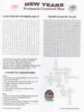 New Year's Wordsearch Crossword Maze