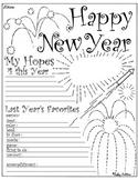 New Year's Worksheet