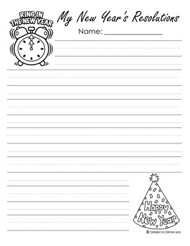 New Year's Worksheet Packet