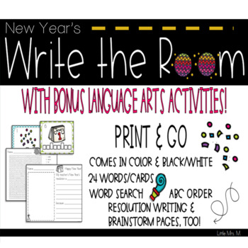 New Years Write the Room