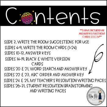New Years Write the Room: A Language Arts Activity