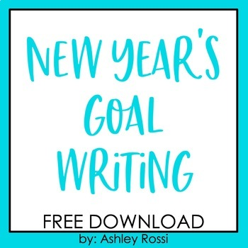 New Years 2017 Goal Writing FREE