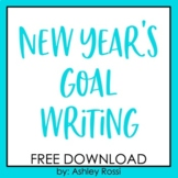 New Years 2018 Goal Writing FREE