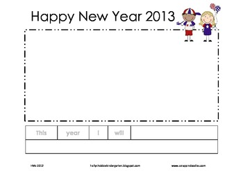 New Year's Writing (3 templates included)