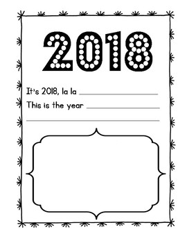 New Year's Writing Activities 2018