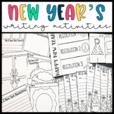 New Years 2018- New Years Resolutions Writing Activities