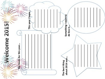 New Year's Writing Activity