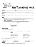 New Year's Writing Activity - New Year's Haiku