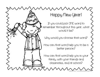 New Year's Writing Activity: What's Your Word?