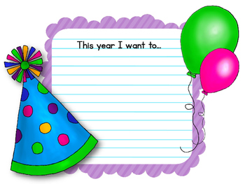 New Years Writing Assignment and Bulletin Board Set. It's a New Year!
