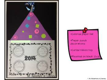 New Year's 2017 Resolutions Writing Craftivity & Graphic Organizers