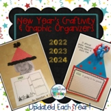 2019 - 2021 New Year's Craftivity, Writing Activity & Grap