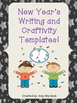 New Year's Writing Craftivity Templates Freebie! 2015