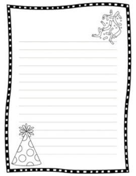 New Year's Writing Papers - Black & White - 3 Styles