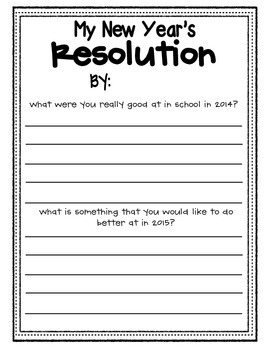 New Year's Writing Sheets FREEBIE!