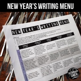 New Year's Writing for Teens: Choice Menu with 40 Prompts