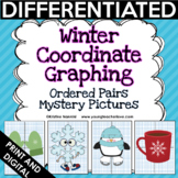 Winter Coordinate Graphing Pictures Ordered Pairs {Mystery